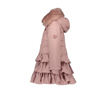 Le Chic Le Chic winterjas with ruffle dull luxury pink dawn