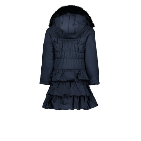Le Chic Le Chic winterjas with ruffle dull luxury blue navy