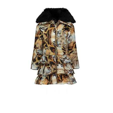 Le Chic Le Chic winterjas chained cheetah black