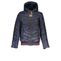 Winterjas Balia hooded with slanted step navy blazer