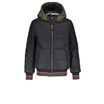 Winterjas BenB stepped with contrast hood antracite
