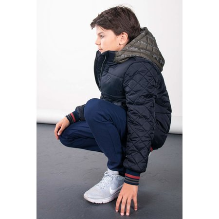 Bellaire Bellaire winterjas BenB stepped with contrast hood antracite