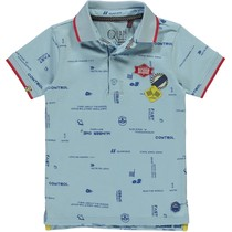 Polo Terence light blue text