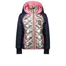 Winterjas diamant quilted body champagne