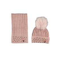 Muts & sjaal victorian pink