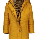 Like Flo Like Flo winterjas long hooded jacket fancy quilting oker