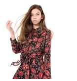 Franky & Liberty Frankie & Liberty blouse Lola black w. red print