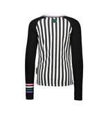 B.Nosy B.Nosy longsleeve with panel print zebra/stripe chalk white