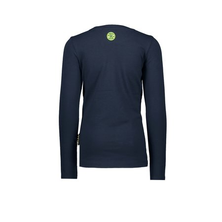 B.Nosy B.Nosy longsleeve with panther tape on sleeve ink blue