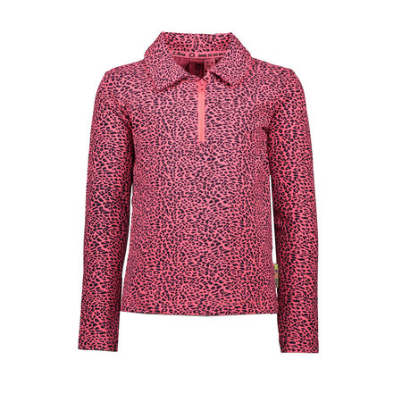 B.Nosy B.Nosy longsleeve polo with zipper pink panther