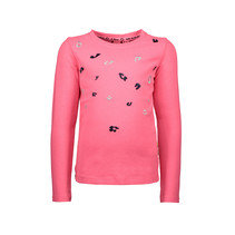 Longsleeve with direct embroidery shocking pink