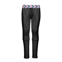 Legging coated with padded knee part black