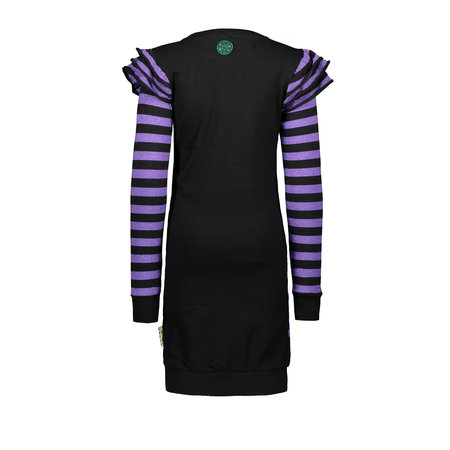 B.Nosy B.Nosy jurk with rib layer sleeve grape purple