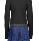 B.Nosy B.Nosy jurk with panther plisse skirt part black