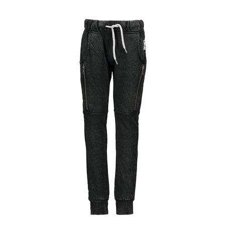B.Nosy B.Nosy joggingbroek with curved crotch black washed denim