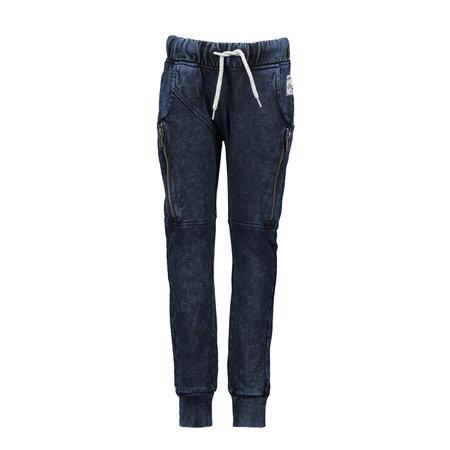 B.Nosy B.Nosy joggingbroek with curved crotch ink blue denim