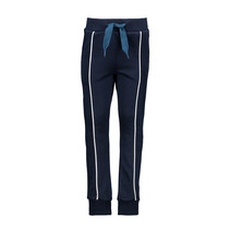 Joggingbroek with contrast piping at front ink blue