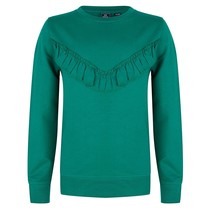 Trui ruffle fresh green