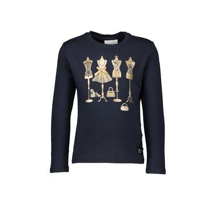 Le Chic Le Chic longsleeve golden mannequins blue navy