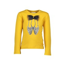 Longsleeve ballet shoes & big bow golden honey