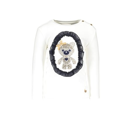 Le Chic Le Chic longsleeve tiny glitter teddy off white