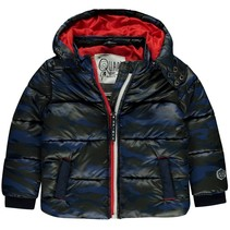 Winterjas Vero dark blue camou