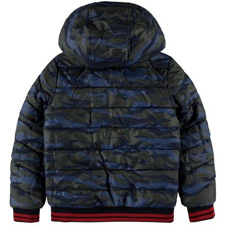 Quapi Quapi winterjas Tjeerd dark blue camo & rocky red reversible