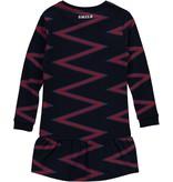 Quapi Quapi jurk Taila navy zigzag stripe