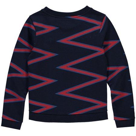 Quapi Quapi trui Tasha navy zigzag stripe