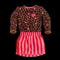 Jurk Anneloes leopard aop