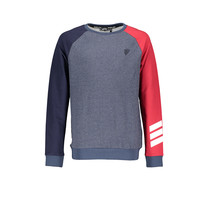 Trui Kare raglan different color sleeves navy blazer