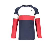 Longsleeve Kas color block at body and sleeves snow white