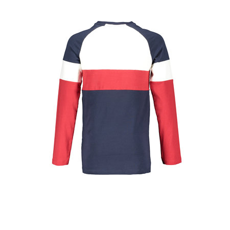 Bellaire Bellaire longsleeve Kas color block at body and sleeves snow white