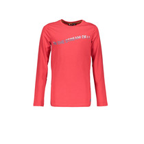 Longsleeve KevisC 3 colored artwork chest ruby red