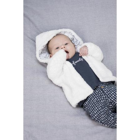 Bampidano Bampidano jasje teddy hooded white