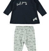 Bampidano Bampidano 2-delig setje a-line dress lof joe + aop criss cross legging navy