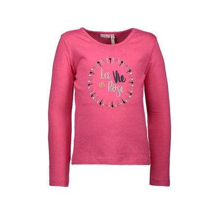 Bampidano Bampidano longsleeve la vie en rose dark pink