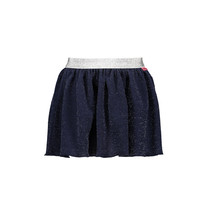 Rok pleated glitter fancy fabric navy
