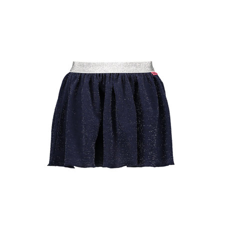 Bampidano Bampidano rok pleated glitter fancy fabric navy