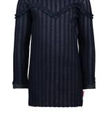Bampidano Bampidano jurk fancy stripe fabric with ruffles stripe navy
