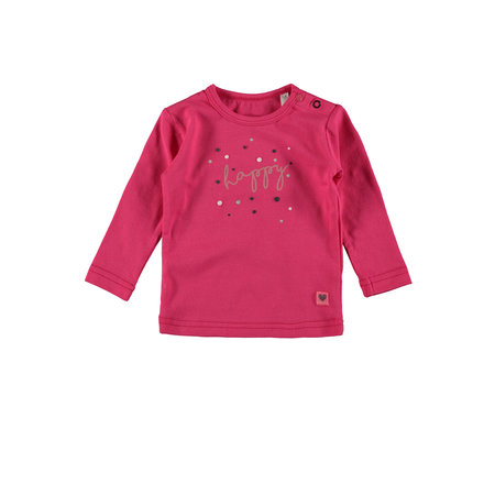 Bampidano Bampidano longsleeve plain hearts/happy dark pink