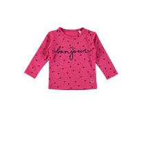 Longsleeve aop bonjour pink