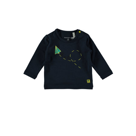 Bampidano Bampidano longsleeve plain yes! like to fly bike navy