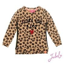 Trui aop leopard lipstick khaki