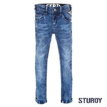 Spijkerbroek blue denim power stretched slim fit