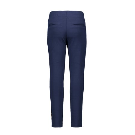 B.Nosy B.Nosy broek fake leather with rib on the side ink blue