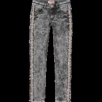 Spijkerbroek Amia dark grey vintage