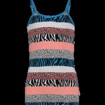 Singlet zebra cosmo pink