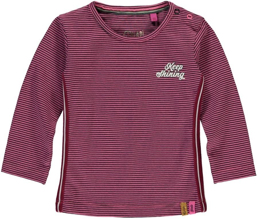 Quapi Quapi longsleeve Vallina pink mini stripe