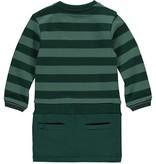 Quapi Quapi jurk Valencia bottle green big stripe